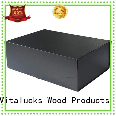 Vitalucks wine bottle wood box fast delivery bulk supply