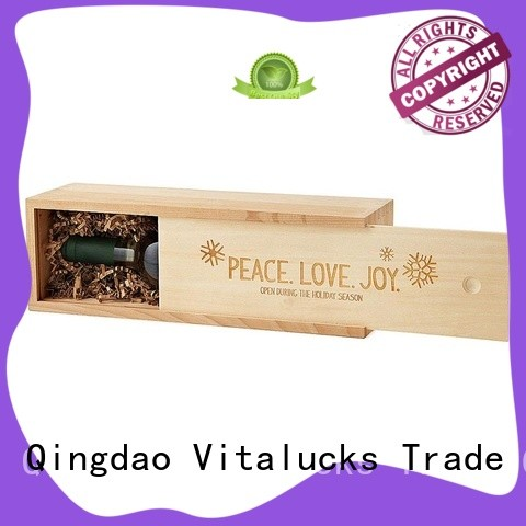 Vitalucks customized large wooden box at discount