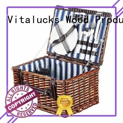 Vitalucks large woven storage basket oem&odm fast delivery