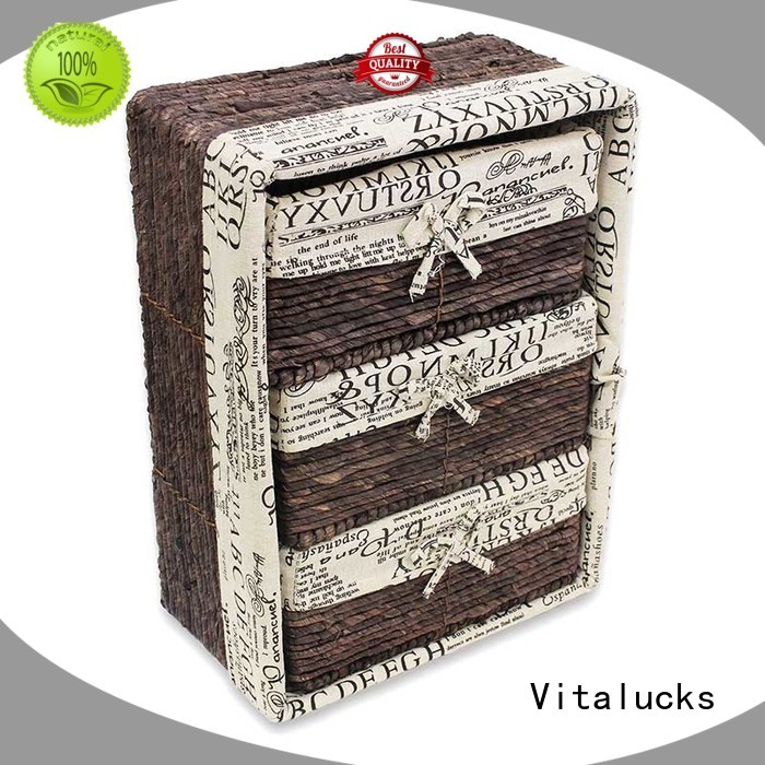 Vitalucks square woven baskets multi-functional fast delivery