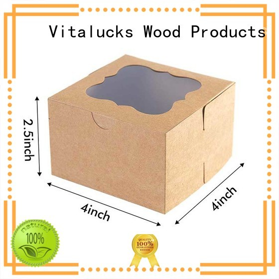 Custom gift box packaging Brown bakery paper box with PVC window