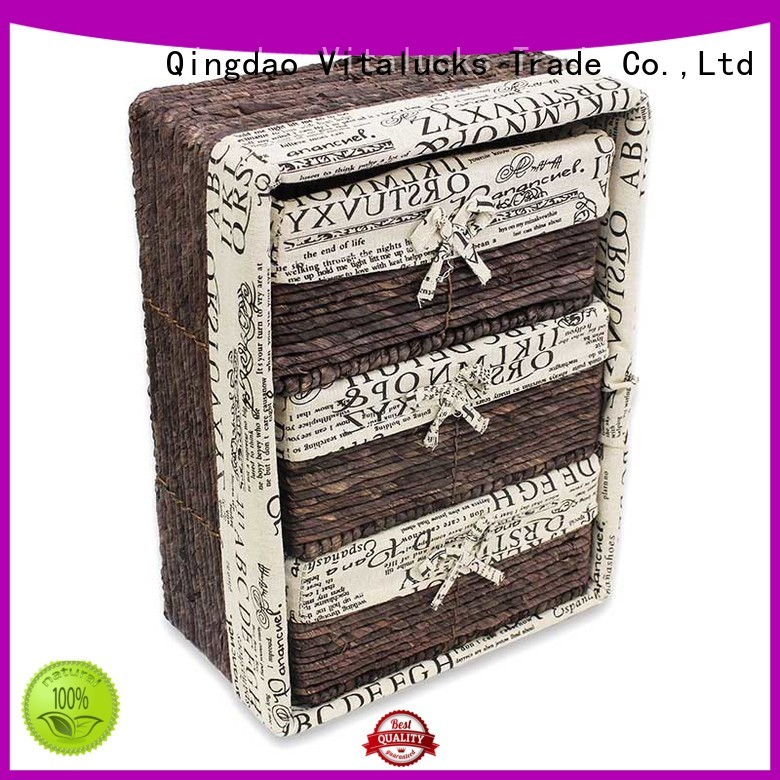 Vitalucks square wicker baskets popular fast delivery