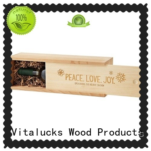 Vitalucks wooden wine boxes wholesale favorable quality large storage