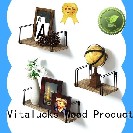 Vitalucks popular long wood wall shelf