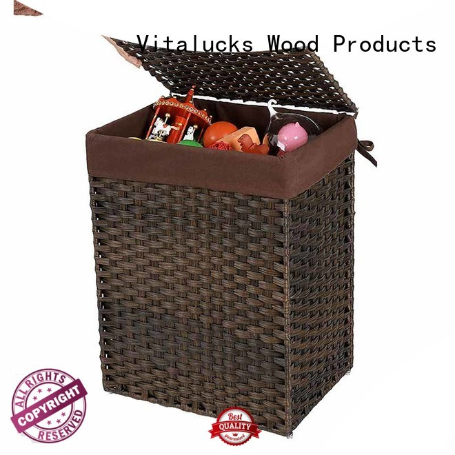 Custom Clothes Storage Basket Synthetic rattan clothes hamper