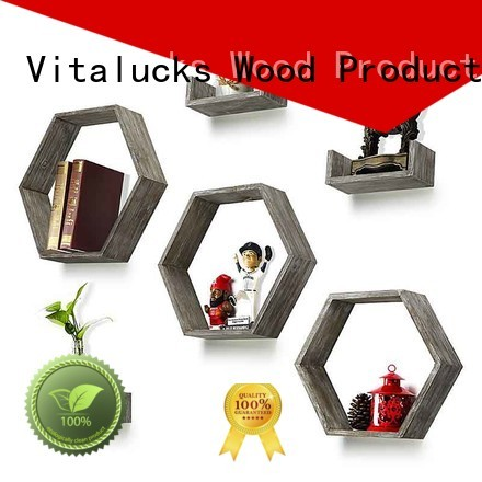 Vitalucks hot-sale wall mounted wooden shelves professional fast delivery