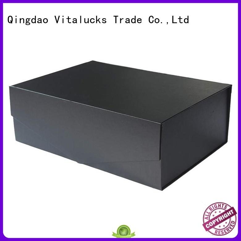 Vitalucks reusable cardboard packaging boxes wholesale chemical-free magnetic closure