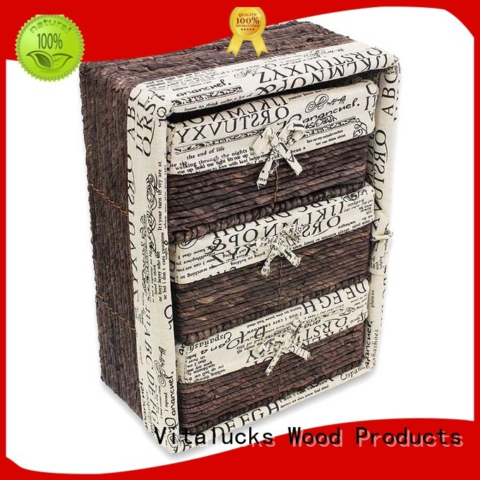 Vitalucks durable square woven baskets at discount