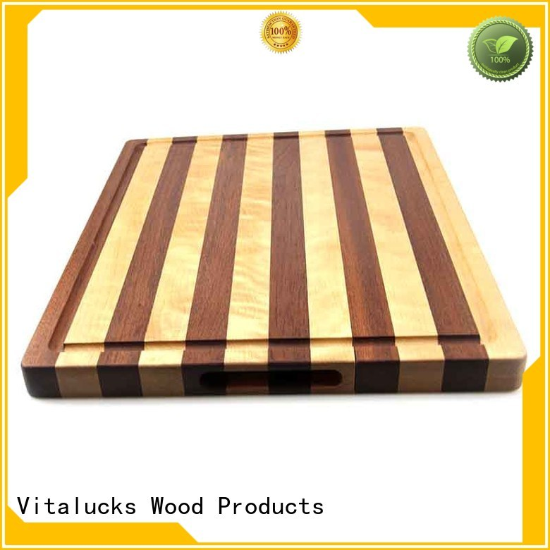 Vitalucks promotional bamboo cutting board set work of art