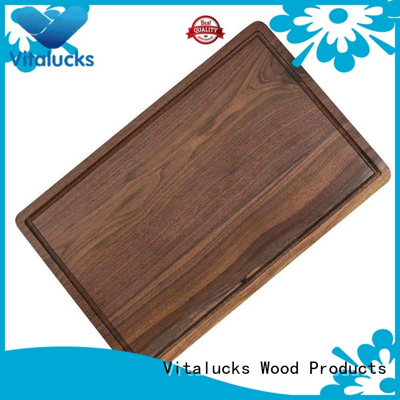 Solid wood cutting board Walnut wood with juice groove for kitchen