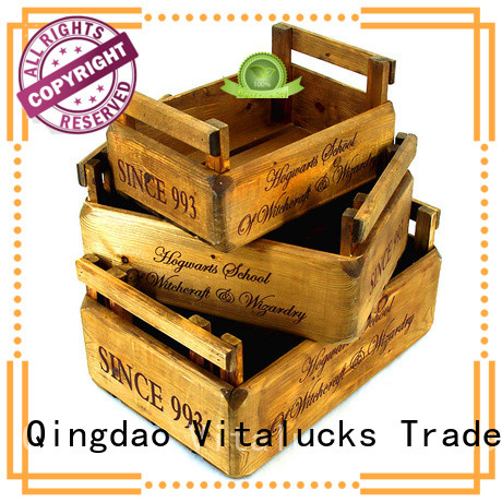 Vitalucks decorative wooden crates popular fast delivery
