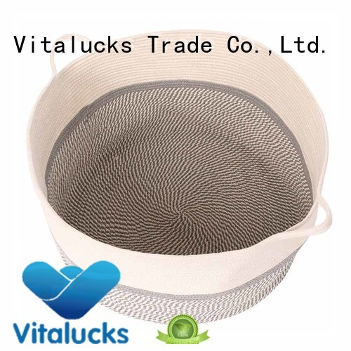 Vitalucks professional cotton rope basket customizaition
