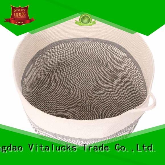Vitalucks wholesale supply cotton rope basket high qualtiy best price