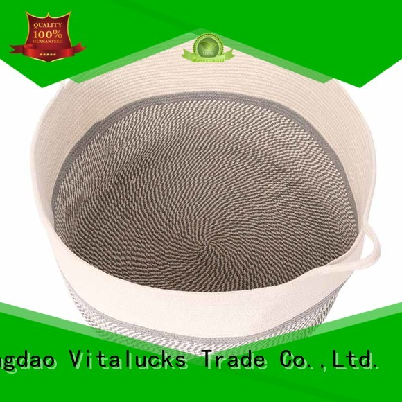 Vitalucks wholesale supply cotton rope basket high qualtiy best price