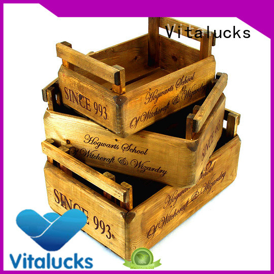 Vitalucks wine bottle wood box high-quality fast delivery