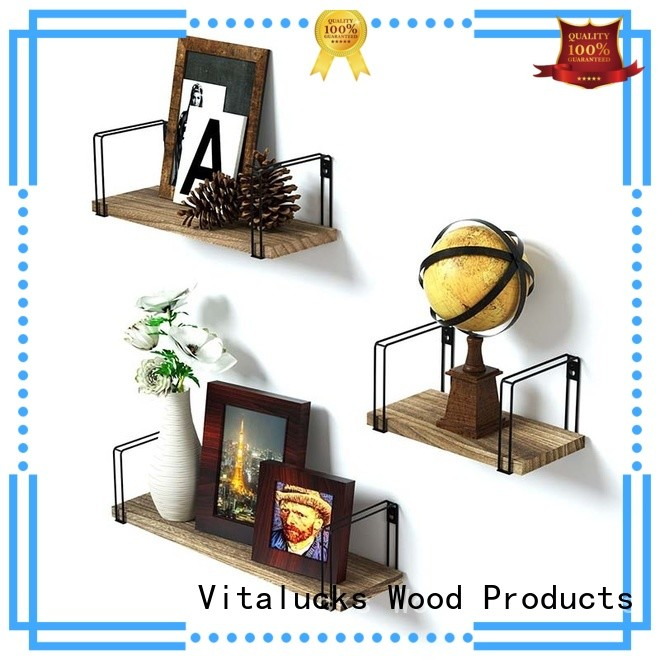 Vitalucks wall mounted wooden shelves fast delivery for storage