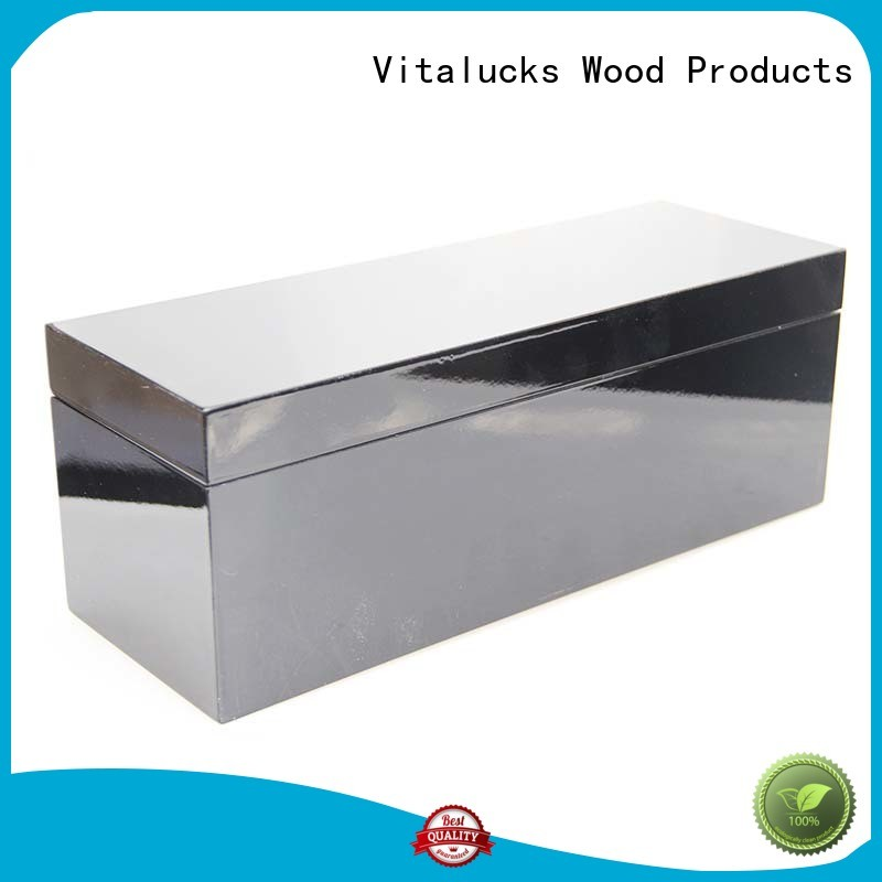 Glossy wooden wine packing box for single bottle storage