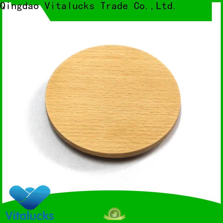 Vitalucks wooden lid customized manufacturing