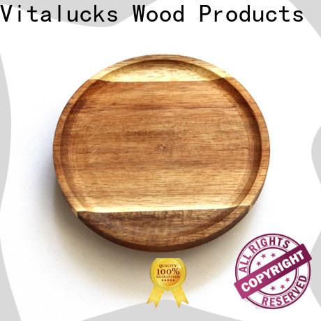 Vitalucks best price round wooden lids customized manufacturing