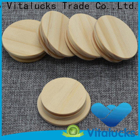 Vitalucks best price wooden candle lids fast delivery manufacturing