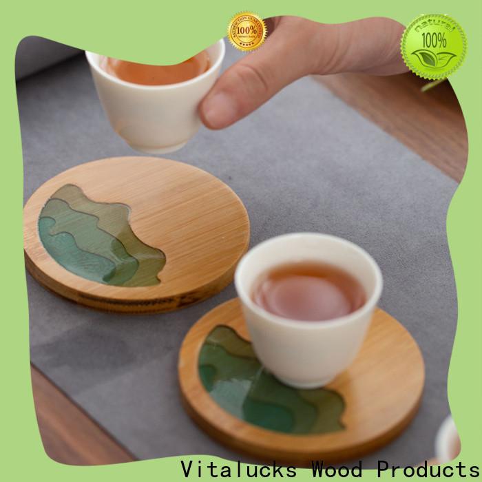 Vitalucks wooden tea cup set top-selling for rest room