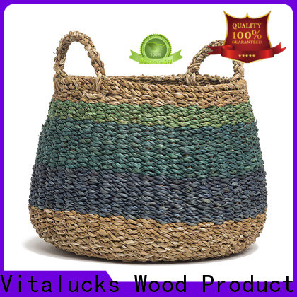 Vitalucks commercial extra large seagrass basket top brand