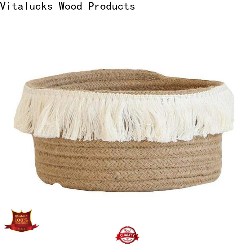 Vitalucks cotton rope basket fast delivery manufacturing