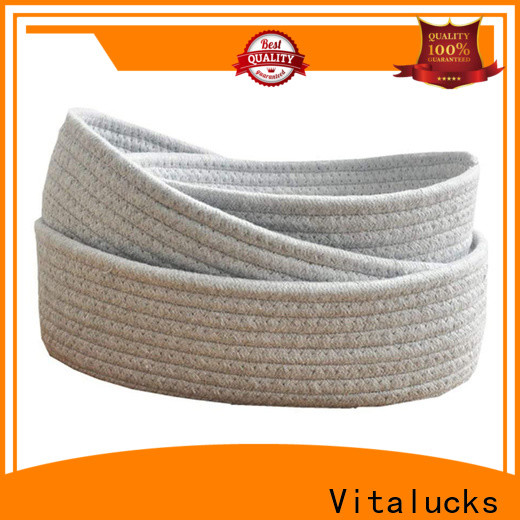 wholesale supply basket weave storage boxes practical customizaition