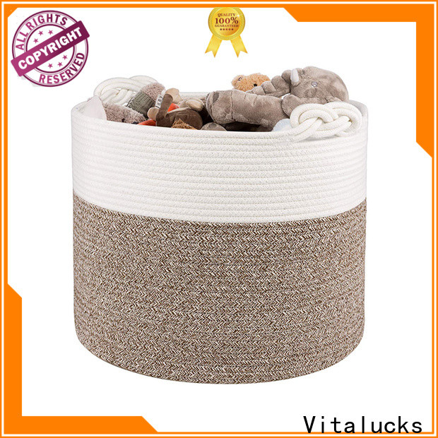 Vitalucks large basket for blankets fast delivery best price