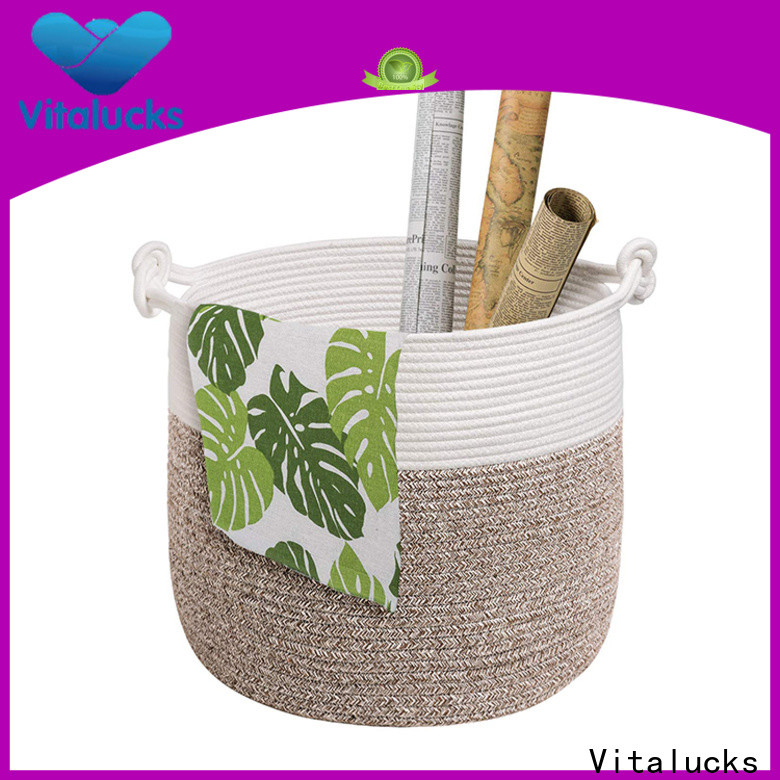 Vitalucks custom beautiful storage baskets practical customizaition