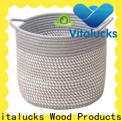 Vitalucks professional basket storage boxes with lids customizaition