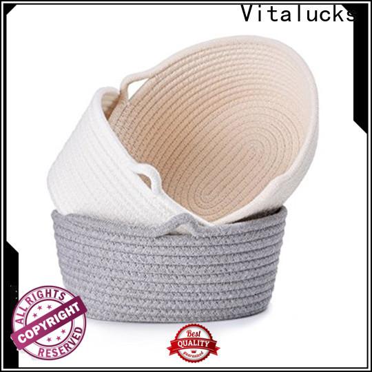 Vitalucks rope storage basket fast delivery customizaition