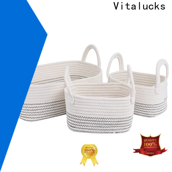 Vitalucks rope storage basket high qualtiy manufacturing