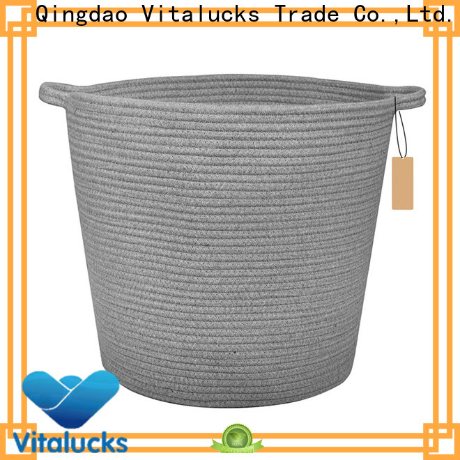 Vitalucks professional square wicker storage baskets practical customizaition
