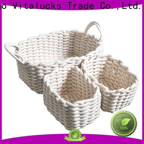 Vitalucks wholesale supply large storage baskets for shelves customizaition