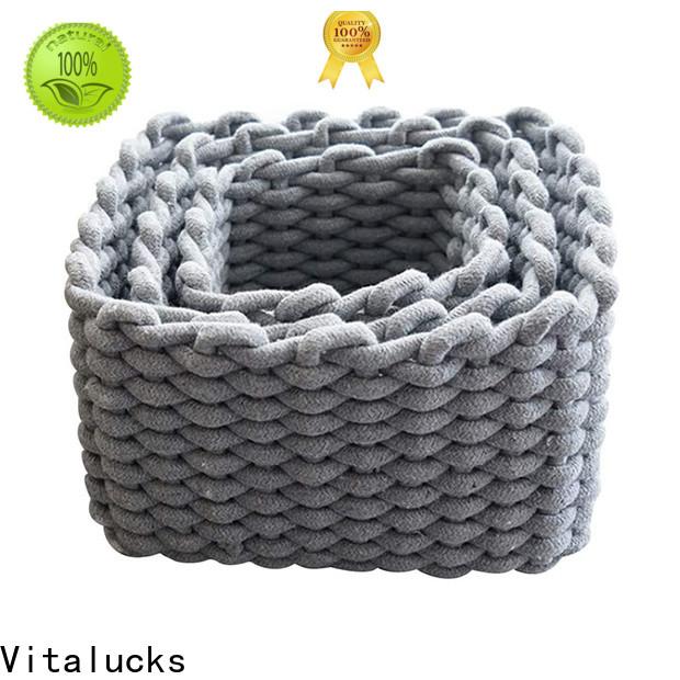Vitalucks large basket for blankets fast delivery best price