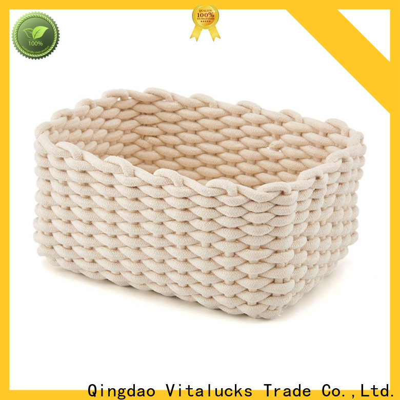 professional rope storage basket fast delivery customizaition