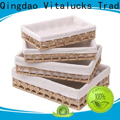 Vitalucks high quality lined storage baskets for shelves pratical top brand