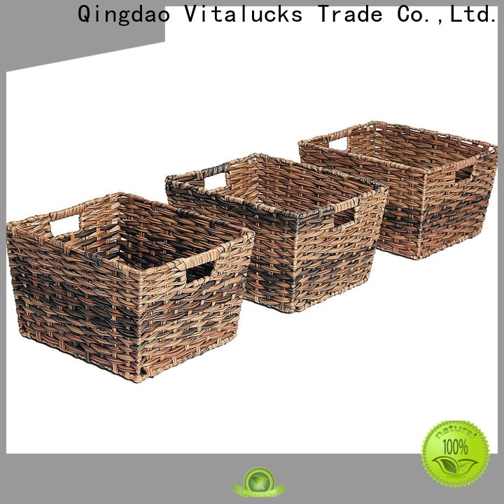 Vitalucks durable decorative plastic storage boxes with lids solid wood oem&odm