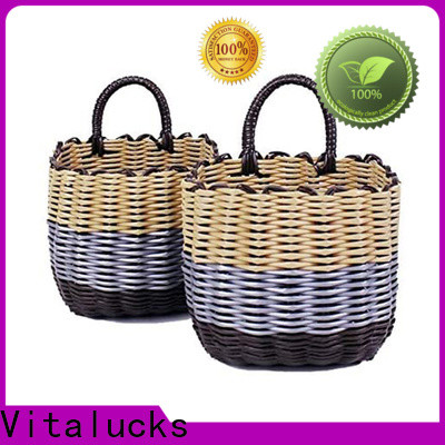 durable pp basket solid wood customization