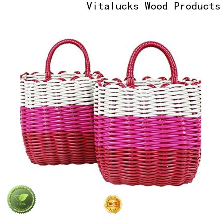 Vitalucks high quality material pp basket solid wood oem&odm