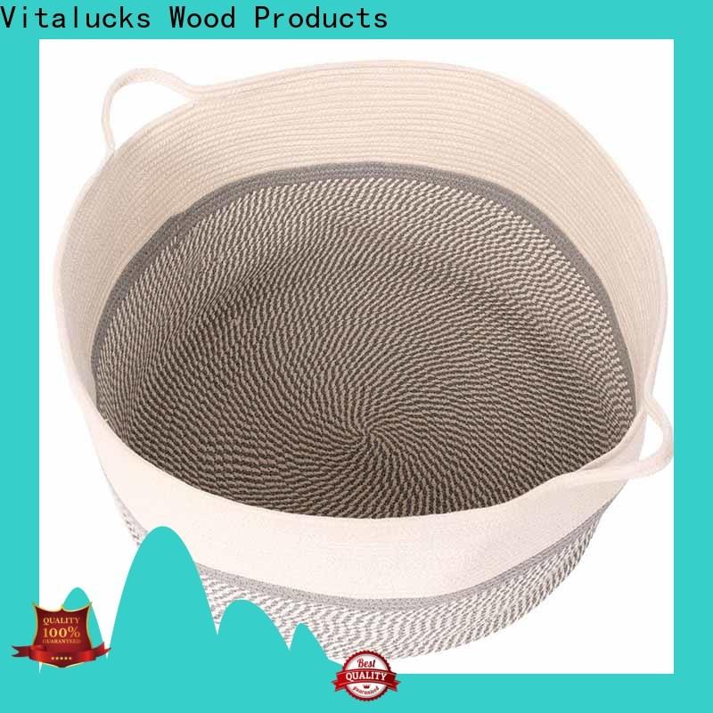 Vitalucks cotton rope basket manufacturing