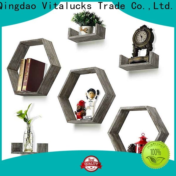 Vitalucks hanging wood shelves great technical ability for wholesale