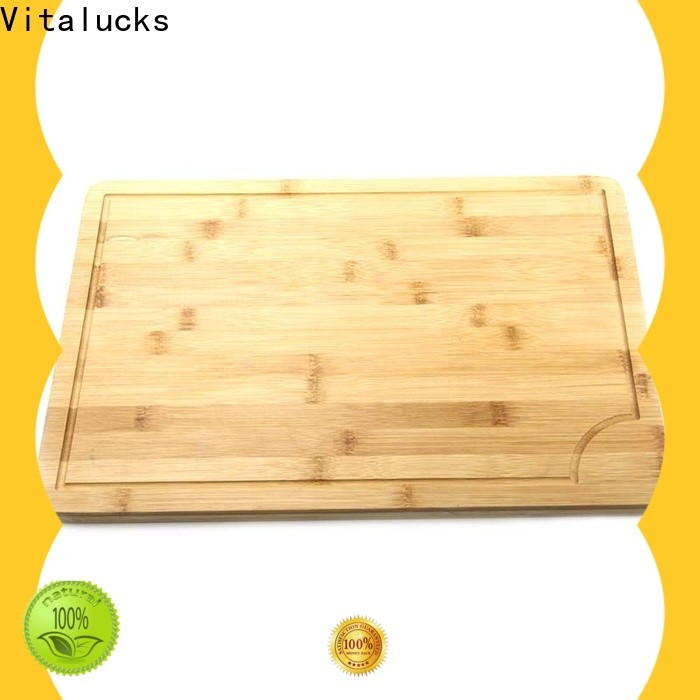Vitalucks large wood cutting board industrial for chopping meat