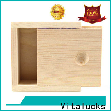 Vitalucks custom wooden gift box favorable price supply