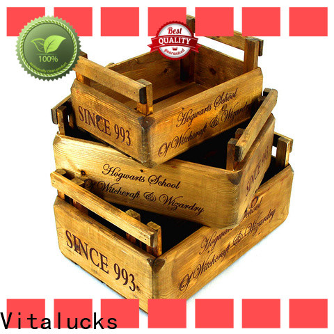 Vitalucks solid decorative wooden crates hot-sale fast delivery