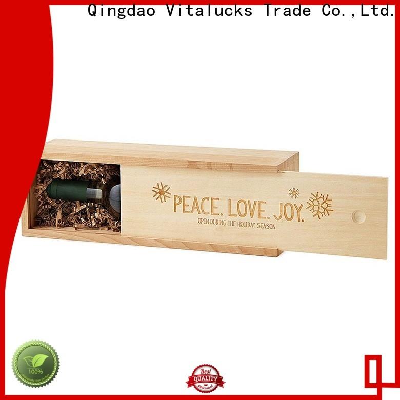Vitalucks professional wooden wine boxes wholesale oem&odm large storage