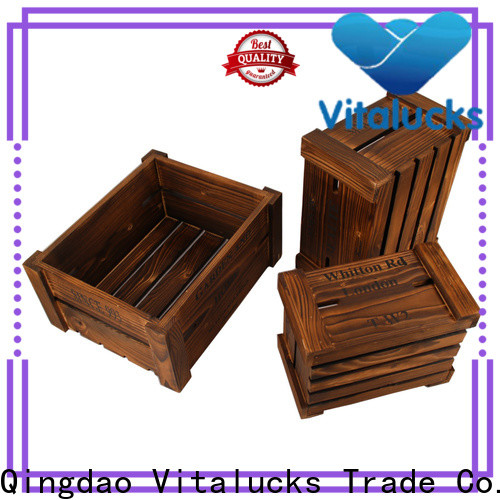 Vitalucks decorative wooden crates high quality fast delivery