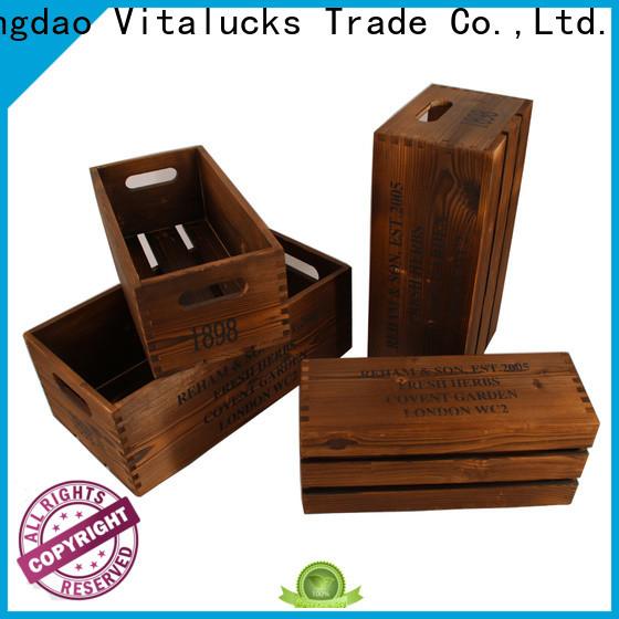 Vitalucks advanced production technology wooden gift crate popular