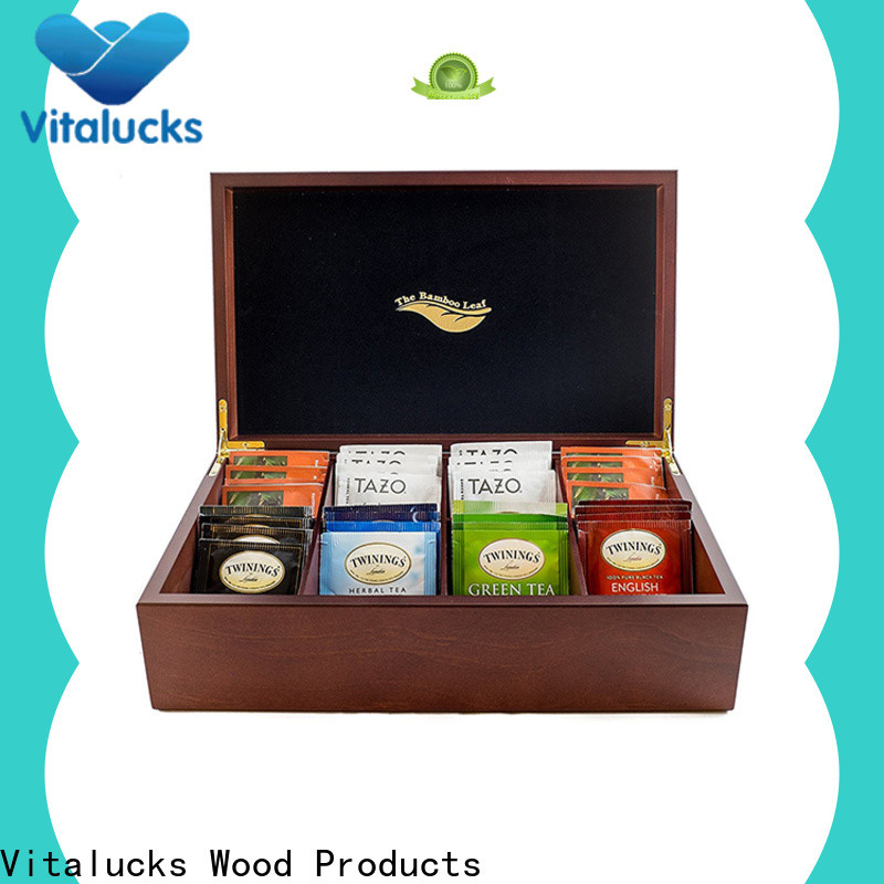 Vitalucks custom wooden tea box for package